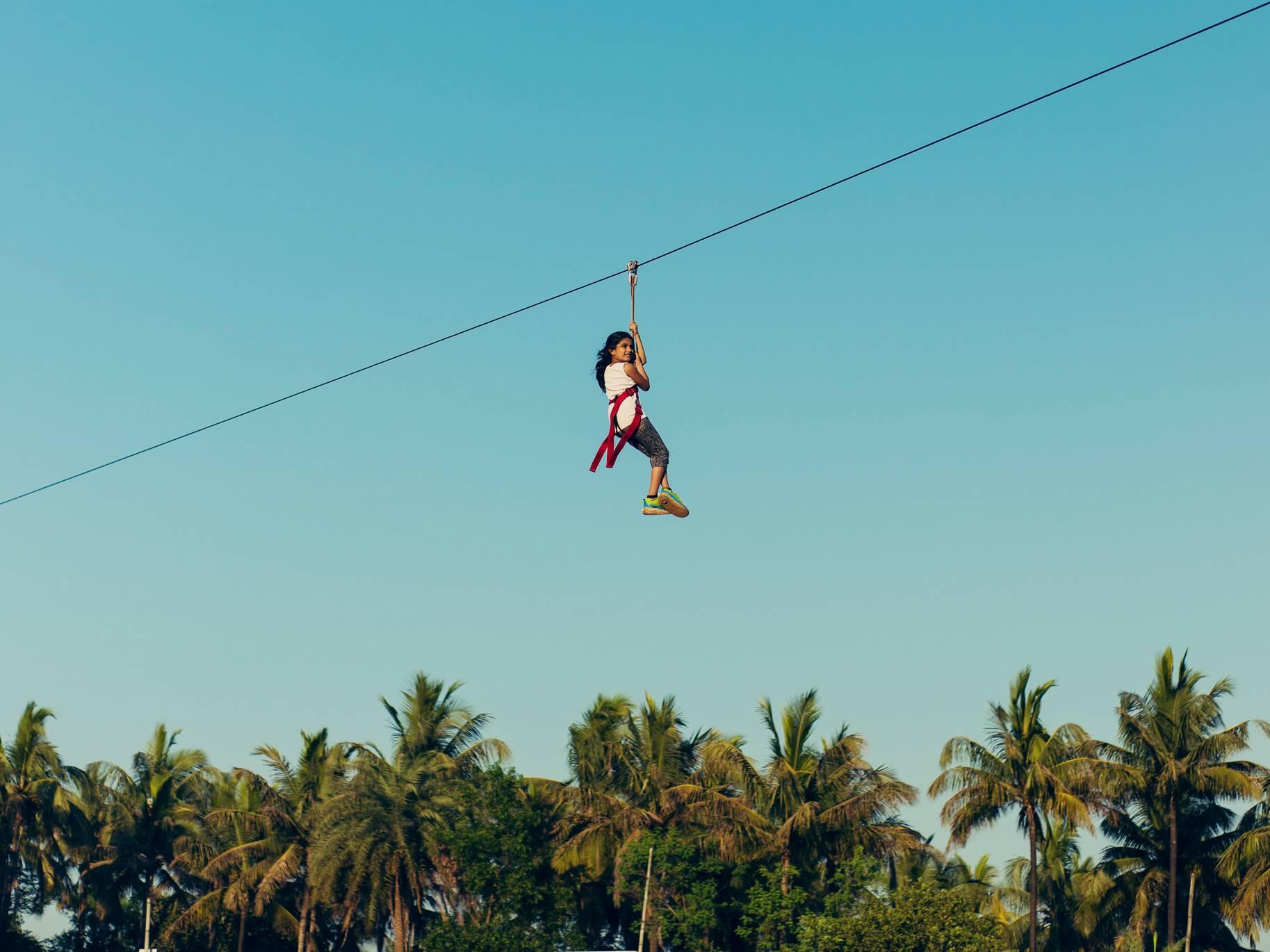 Flying Fox Zipline Saguna Baug